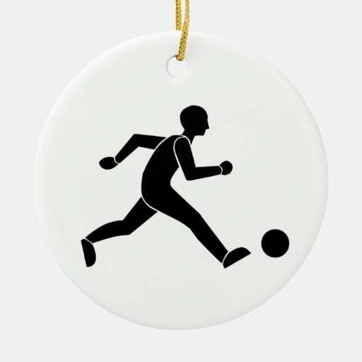 Football / soccer christmas tree ornament