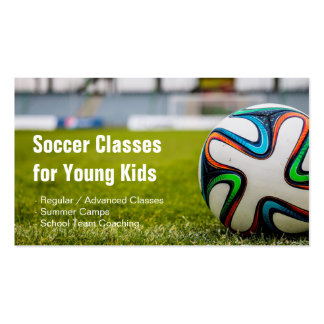 Football / Soccer Classes Coach Stylish and Unique Pack Of Standard Business Cards
