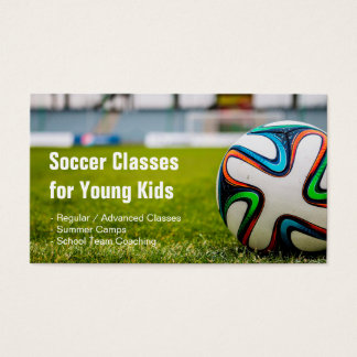 Football / Soccer Classes Coach Stylish and Unique Business Card