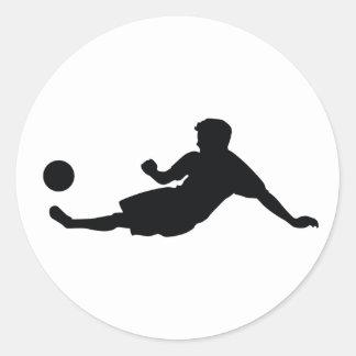 Football Soccer Classic Round Sticker