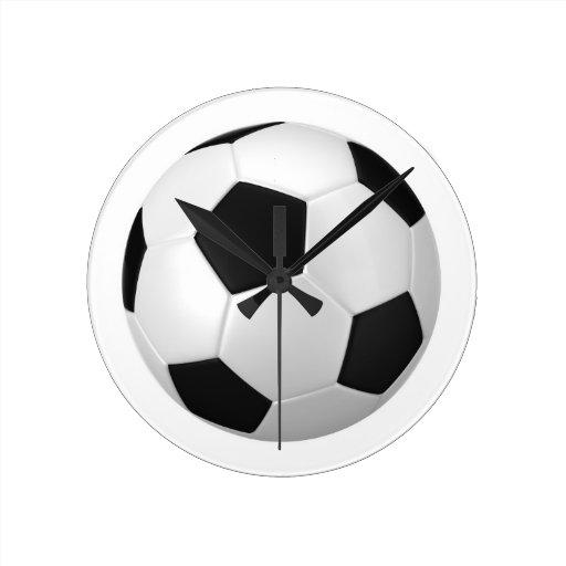 Football Design Wall Clock : Football soccer wallclock