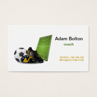Soccer coach business card goalblockety soccer coach business card reheart Gallery