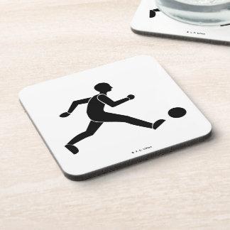 Football / soccer drink coaster