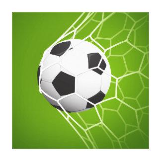 Football soccer goal illustration canvas print