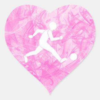 Football / soccer heart sticker