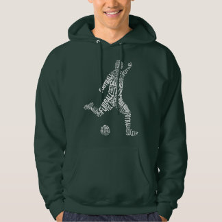Football Soccer Languages (White) Hoodie