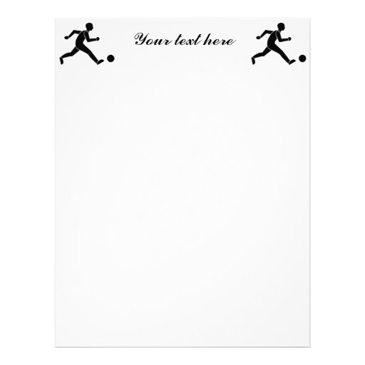 Football / soccer letterhead