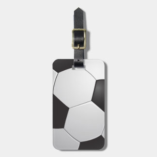 Football Soccer Luggage Tags
