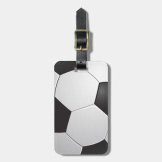 Football Soccer Luggage Tag