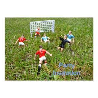 Football/Soccer Match Party Invitation
