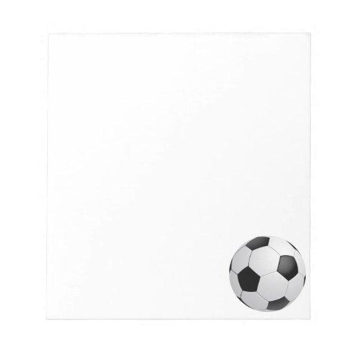 Football Soccer Notepad