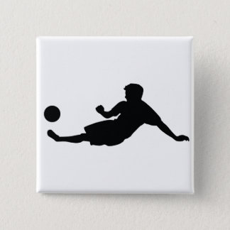 Football Soccer Pinback Button