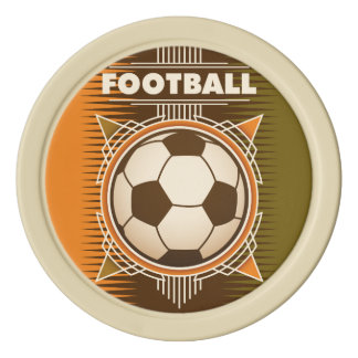 Football Soccer Sport Ball Poker Chip Set