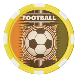 Football Soccer Sport Ball Poker Chips Set