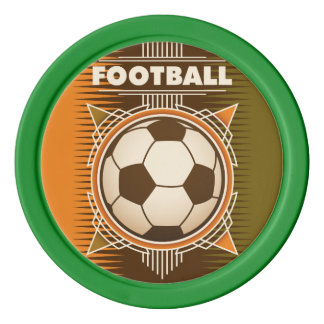 Football Soccer Sport Ball Set Of Poker Chips