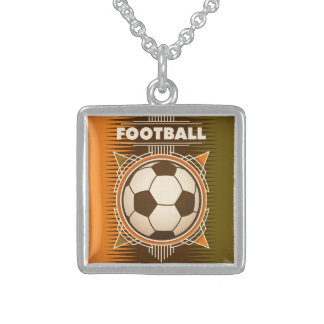 Football Soccer Sport Ball Sterling Silver Necklace