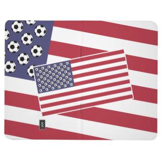 Football Soccer Stars and Stripes Flag Journal