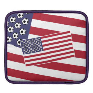 Football Soccer Stars and Stripes Flag Sleeve For iPads
