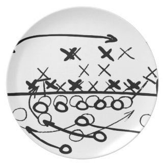 Football Soccer strategy play Diagram Plate