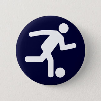 Football Soccer Symbol Button