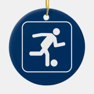 Football Soccer Symbol Ornament