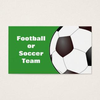 Football / Soccer Team Business Card