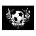 Football Soccer Wings Postcard