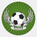 Football Soccer Wings Sticker