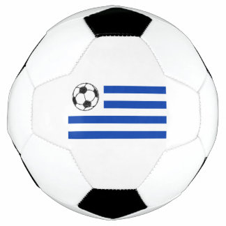 Football Soccor Ball Sketch, Uruguay Flag