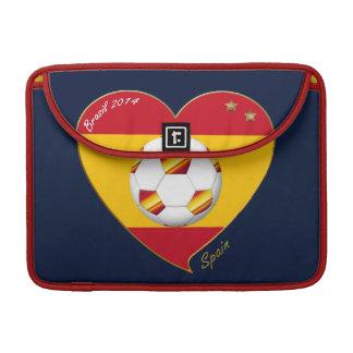 "FOOTBALL ""SPAIN"" Spanish Soccer Team FÚTBOL ESPAÑA Funda Para Macbooks"