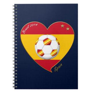 """FOOTBALL """"SPAIN"""" Spanish Soccer Team FÚTBOL ESPAÑA Libretas Espirales"""