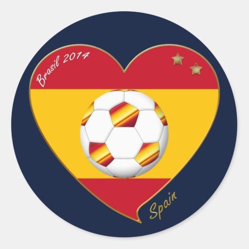 "FOOTBALL ""SPAIN"" Spanish Soccer Team FÚTBOL ESPAÑA Pegatina Redonda"