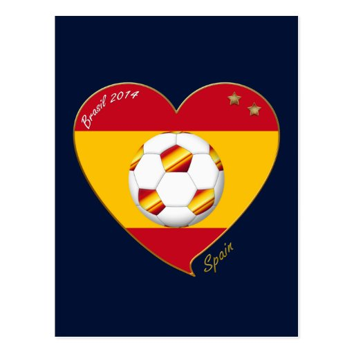 "FOOTBALL ""SPAIN"" Spanish Soccer Team FÚTBOL ESPAÑA Tarjeta Postal"