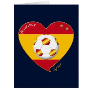 "FOOTBALL ""SPAIN"" Spanish Soccer Team SPAIN SOCCER Greeting Cards"