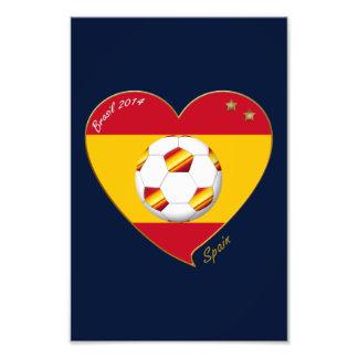"FOOTBALL ""SPAIN"" Spanish Soccer Team SPAIN SOCCER Photo Art"
