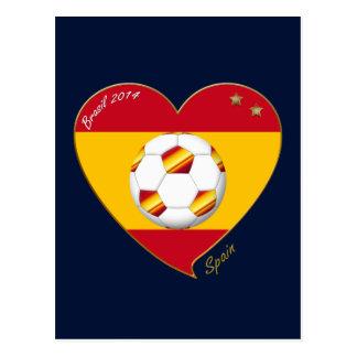 """FOOTBALL """"SPAIN"""" Spanish Soccer Team SPAIN SOCCER Postcard"""