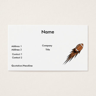 football spike business card