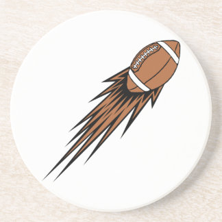 football spike sandstone coaster