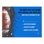 Football Splatter Bar Mitzvah Reply Card