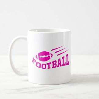 Football sport design - pink print girls or womens coffee mug