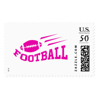 Football sport design - pink print girls or womens postage