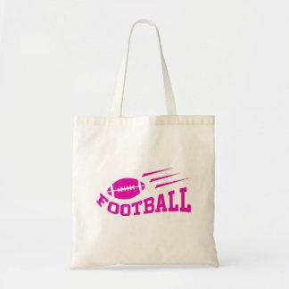 Football sport design - pink print girls or womens tote bag