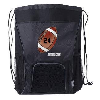 Football Sport Style | DIY Name & Number Drawstring Backpack