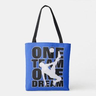Football Sport Terminology Typography Slogan Text Tote Bag