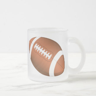 Football Sports Ball Team Game Playing Stars Coach 10 Oz Frosted Glass Coffee Mug