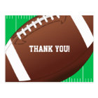 Football Sports Birthday Thank You Postcard