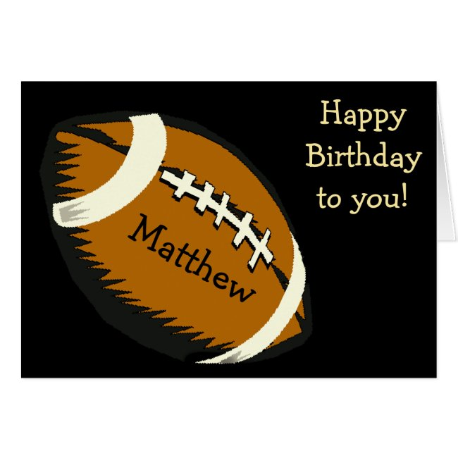 Football Sports Black and Brown Birthday