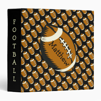 Football Sports Brown and Black Binder