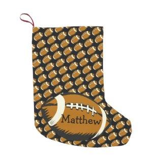 Football Sports Brown Small Christmas Stocking