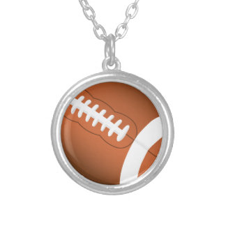 Football Sports Education Coaches Team Game Field Silver Plated Necklace